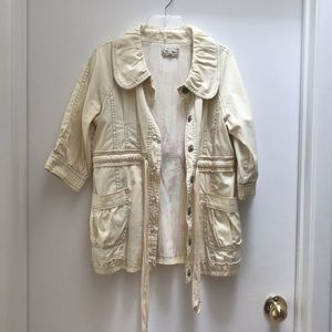 Pale Yellow Denim Jacket